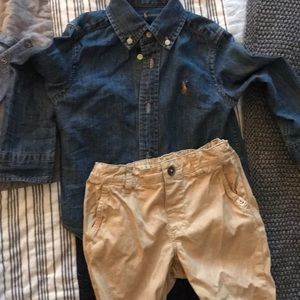 Ralph Lauren Chambray top & Khakis